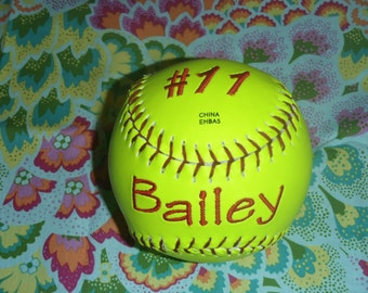 Personalized Softball or Baseball