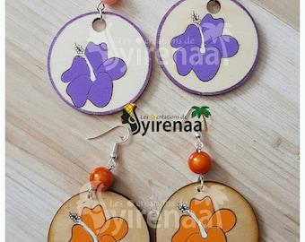 Hibiscus earrings