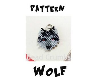 Seed Bead Wolf Pattern, Brick Stitch Bead Weaving | DIGITAL FILE