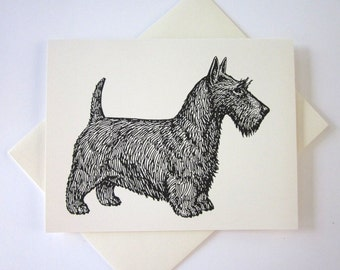 Scottie Dog Note Cards Set of 10 with Matching Envelopes