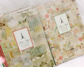 EIFFEL TOWER Paris - Retro / Vintage Style Journaling Diary Planner Travelers Notebook.