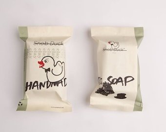 Snob Duck Clay Handmade Soap. Feel like a young gun with clay. With coconut oil, olive oil, jojoba oil, calendula oil, clay and herbs.
