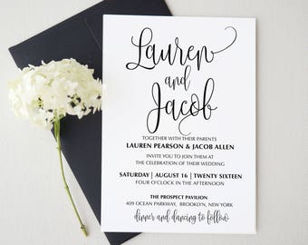 Wedding Invitations Paper Etsy CA