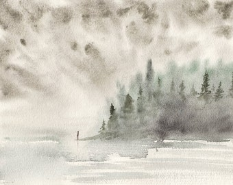 Alone Time WATERCOLOR painting