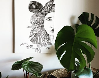 A3+ GAIA Ltd Edition Fine Art Print - Stippled intricate drawing