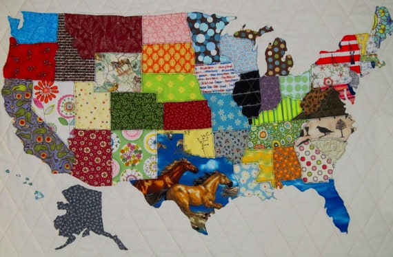 Usa patchwork map quilt pattern from quilts by elena full like this item gumiabroncs Image collections