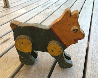 Folk Art Wooden Toy Animal