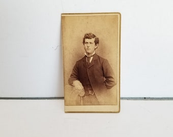 Antique Photograph Young Man Gentleman Carte de Visite CDV