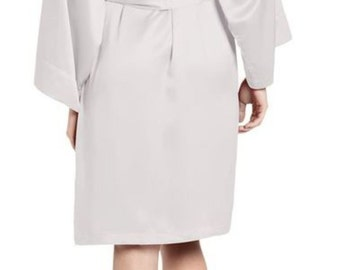 Custom Rhinestone Crystal Bride Satin Robe,  Bridal Party Satin Robes, Rhinestone Bridesmaid Robes, Bride Robe ,Rhinestone Bridal Party Robe