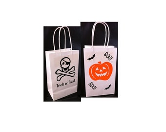 Halloween Pirate Gift Bags Favor Bags Trick or Treat Set of 4