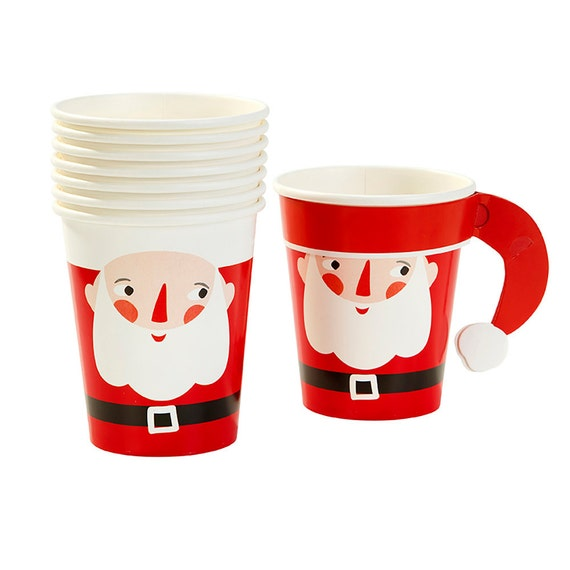 Santa Paper Cups Disposable Christmas Tableware Christmas Paper Cups from thepartiesthatpop on Etsy Studio  sc 1 st  Etsy Studio & Santa Paper Cups Disposable Christmas Tableware Christmas Paper ...