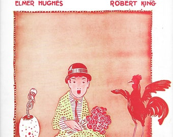 1921 Vintage Sheet Music - I Ain't Nobody's Darling - words by Elmer Hughes and music by Robert King