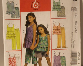 McCalls 5573 Girls tops and pants