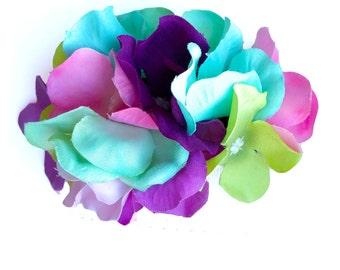 10% off with the code BDAY10  Rainbow Hydrangea Hair Flower