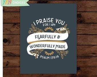Psalm 139:14 Print