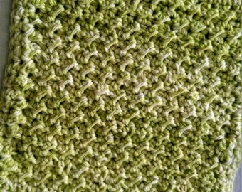 Green apple washcloth