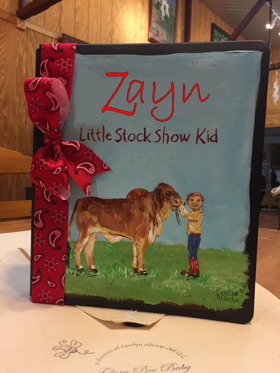 Little Stock Show Kid Baby Memory Book | Stock Show Keepsakes Book