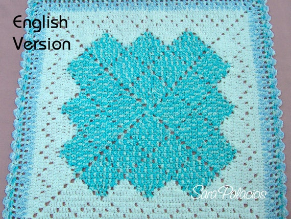Crochet Baby Blanket Pattern Solid Granny Square Afghan