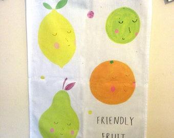 Teatowel - Kitchen Towel - 'Friendly Fruit'