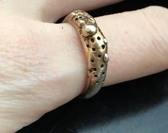 Wedding Band, Organic Ring, Organic Wedding Band, Organic Jewelry, Gold Ring, Raw Ring, Raw Jewelry, Unique Gold Ring