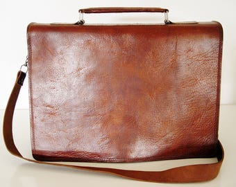Leather Large Bag.