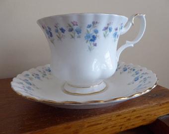 Royal Albert Bone China MEMORY LANE Tea Cup and Saucer