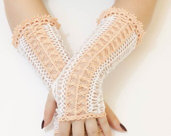 Lace Crochet Mittens, Colour to choose from, Fingerless Gloves, Sweet Lolita