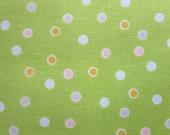 7.99 A Yard - Riley Blake Sweet Orchard Fabric Dot Green C5482