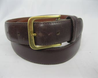 Burgundy Distressed Leather Coach Belt 5800 Size 34/85