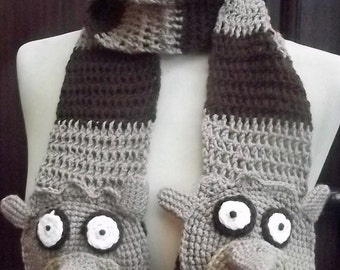 Crochet Rigby Scarf from the Regular Show - Ready to Ship