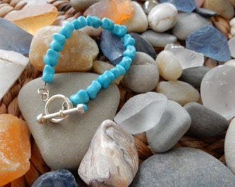 TuRqUOiSe BraCeLeT with SteRLiNg SiLveR ToGGLe ClaSp