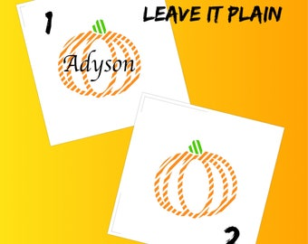 Pumpkin/Name Pumpkin/Fall/Heat Iron-on/Fall Iron-on