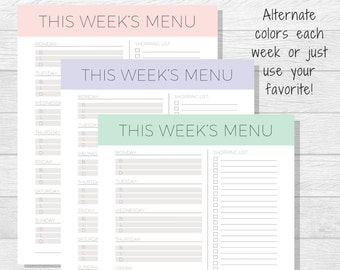 family menu planners