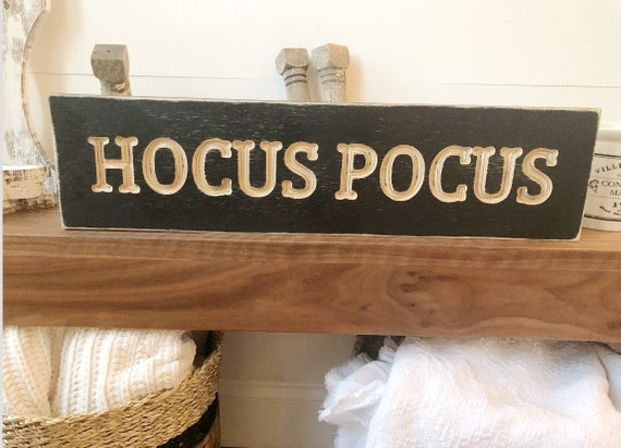 Hocus Pocus Wood Engraved Fall Sign