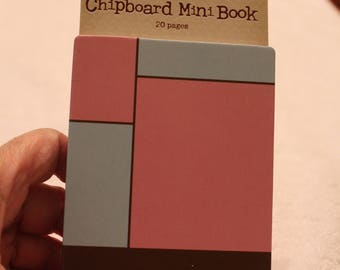 Free Shipping!  Karen Foster Chipboard Mini Book - 20 pages - Style 11006 - NIP - Spiral Bound - SNSJ3