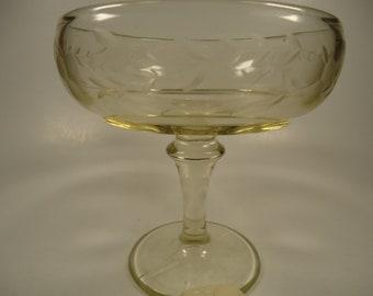 Clear glass  pedestal dish