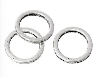 30 Metal jump rings silver 10mm