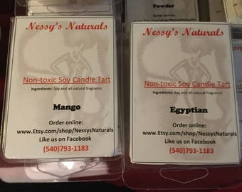 Nessy's Naturals candle Tarts
