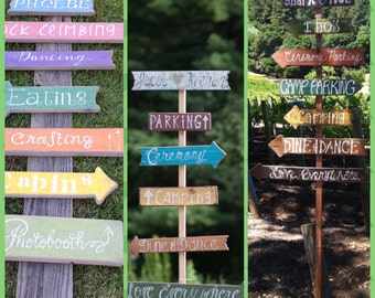 Wedding Signs, Wedding Directional Signs, Rustic Wedding Signs, Beach Signs, Beach Directional Signs, Rustic Wedding Signs, Garden Signs