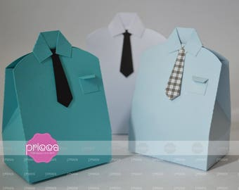3D SVG Fathers day favor box shirt bag -  DIY Cricut and Printable Shirt Favor Box