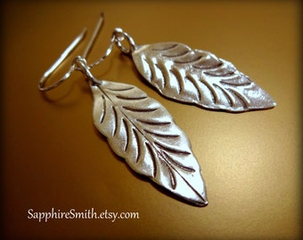 25% off NATURAL BEAUTY Karen Hill Tribe Long Silver Leaf Earrings, nature-inspired jewelry, artisan silver