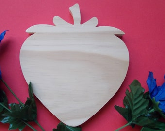 Strawberry Unfinished DIY Wood Plaque