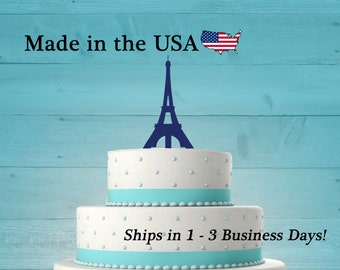 Paris Eiffel Tower Cake Topper, Paris Topper, Eiffel Topper, Traveling Party, Wedding Decor, Paris Wedding, Paris Theme Party, LT1039