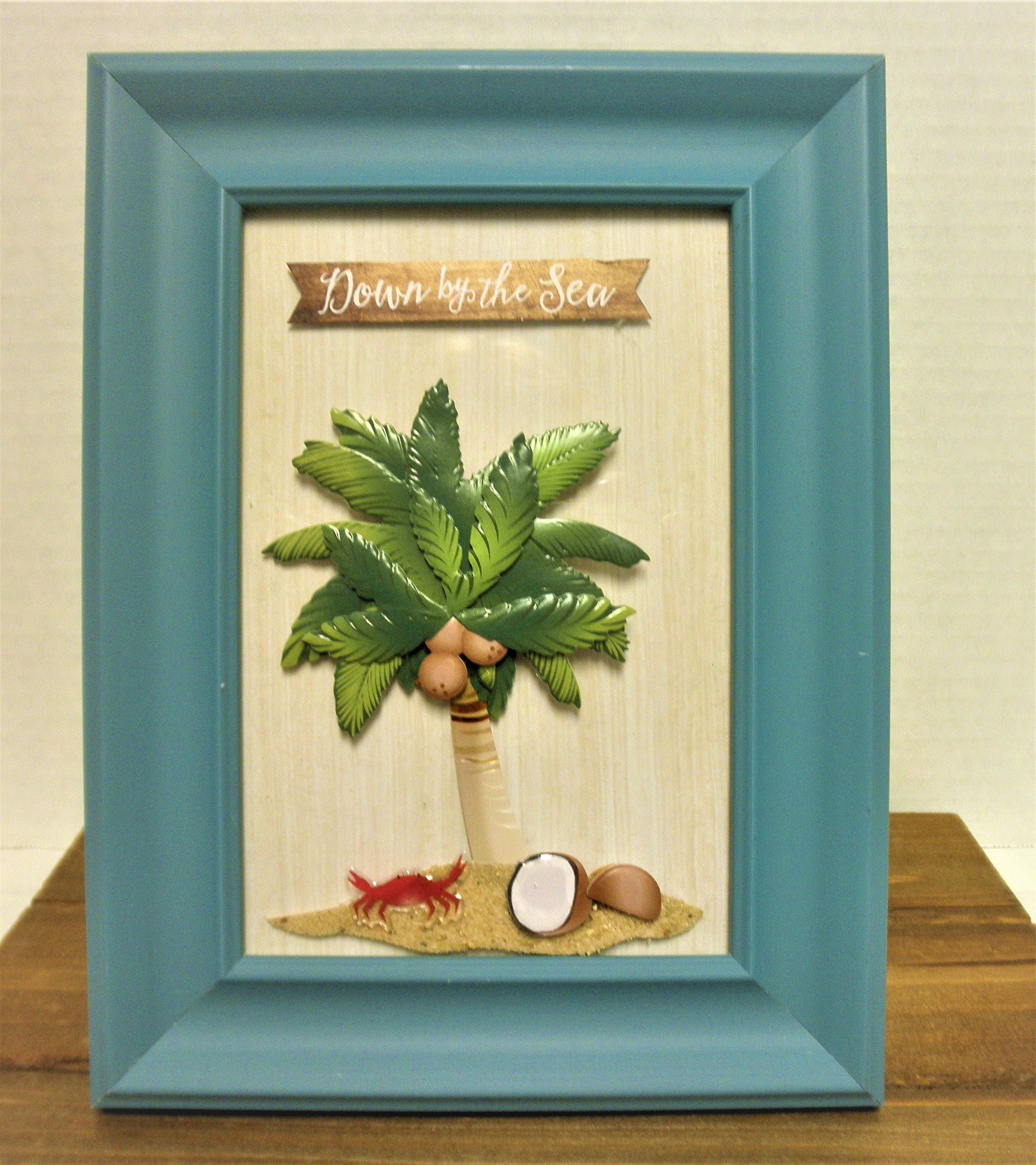 Palm Tree Beach Picture Frame Decor/ Palm Tree Decor / Framed Art ...