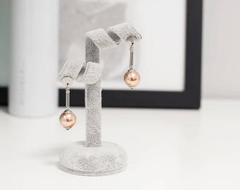 Rose gold earrings, Elegant earrings