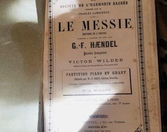 Old sheet music book - Handel - Messiah
