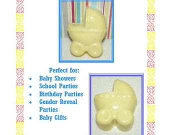 30 Baby Shower Soap Favors, Baby Carriage Soap Favors, Gender Reveal Shower Favors, Welcome Baby Favors