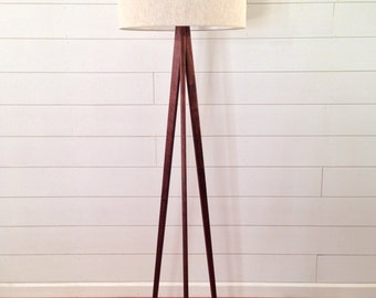 Floor Lamp - Tripod - Black Walnut