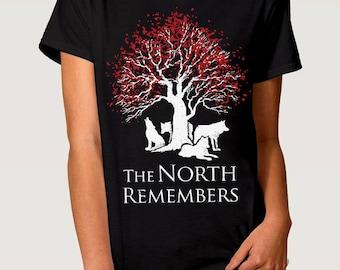 The North Remembers Men's Women's T-shirt Game of Thrones Art Tee