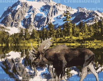 North Cascades Alternative National Park Poster - Join the Park Side